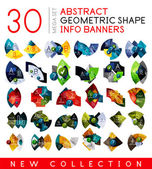 Mega collection of geometric info banner templates — Stock Vector