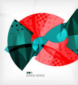 Abstract geometric shapes background — Stock Vector
