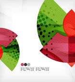 Abstract geometric shapes background — Vector de stock