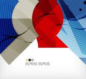 Modern futuristic techno abstract composition — Vector de stock