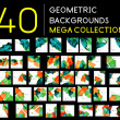 Huge mega collection of abstract backgrounds — Vecteur #48917507