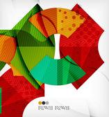 Fondo formas geométricas abstractas — Vector de stock