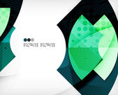 Abstract geometric shapes background — Vecteur
