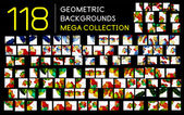 Huge mega collection of abstract backgrounds — Stock Vector
