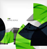 Modern futuristic techno abstract composition — Stockvector