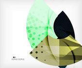 Modern futuristic techno abstract composition — Stock Vector
