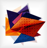 Abstract 3d triangle blank background — Stok Vektör