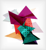 Abstract 3d triangle blank background — 图库矢量图片