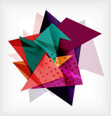 Abstract 3d triangle blank background — Stockvektor