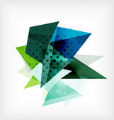 Abstract 3d triangle blank background — ストックベクタ