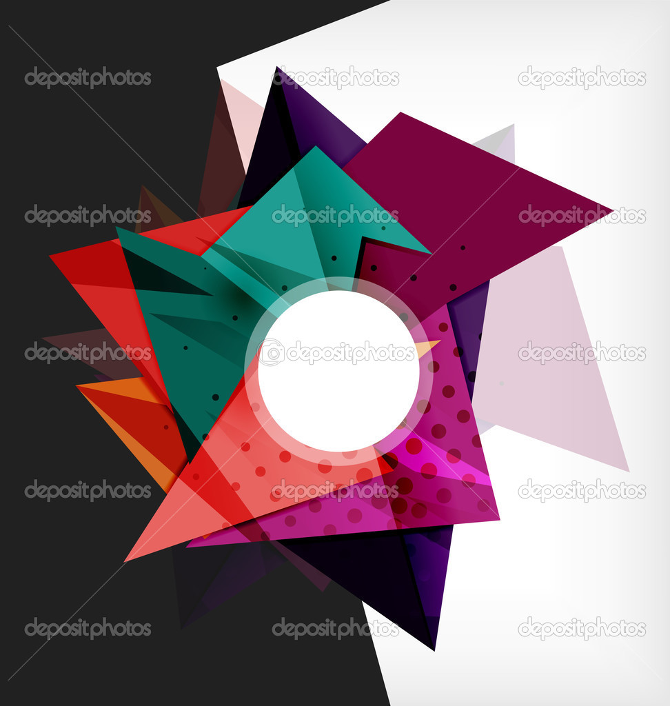 Composici n abstracta geom trica 3d vector de stock for Imagenes abstractas 3d