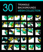 Mega collection of geometric abstract backgrounds — Stock Vector