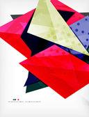 Abstrata colorida composição sobreposta — Vetor de Stock