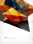 Abstract colorful overlapping composition — 图库矢量图片