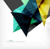 Streszczenie kolorowy kompozycja nakładających się — Wektor stockowy