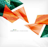 Futuristic shapes vector abstract background — ストックベクタ