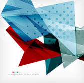 Futuristic shapes vector abstract background — Stock Vector