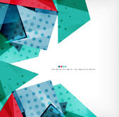 Geometric shape abstract futuristic background — Stock Vector