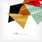 Geometric shape abstract futuristic background — Vettoriale Stock