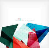 Geometric shape abstract futuristic background — Vector de stock