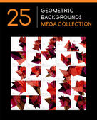 Mega collection of geometric abstract backgrounds — Vetor de Stock