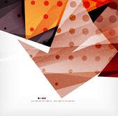 Modernes 3d formes abstraites sur mise en page blanche — Vecteur