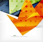 白いレイアウト上の現代 3 d 抽象的な形 — ストックベクタ
