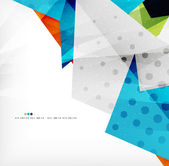 Modern 3d abstract shapes on white layout — Stock vektor