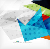 Modern 3d abstract shapes on white layout — Stock Vector