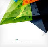 Moderne 3d abstrakte Formen auf weißen layout — Stockvektor