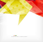 Modern 3d abstract shapes on white layout — Stockvektor