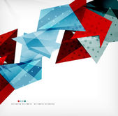 Futuristic shapes vector abstract background — Stok Vektör