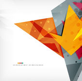 Futuristic shapes vector abstract background — Vector de stock
