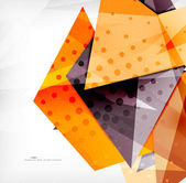 Modern 3d glossy overlapping triangles — Wektor stockowy