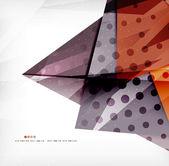 Modernas triángulos superpuestos brillante 3d — Vector de stock