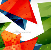 Modern 3d glossy overlapping triangles — Stock Vector