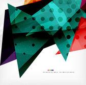 Moderní 3d lesklý překrývající se trojúhelníky — Stock vektor