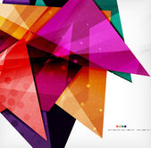 Modern 3d glossy overlapping triangles — 图库矢量图片