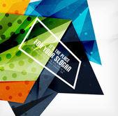 Moderni 3d lucidi triangoli sovrapposti — Vettoriale Stock