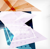 Modern 3d glossy overlapping triangles — Vector de stock