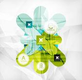 Opcja układ nowoczesny infografika — Wektor stockowy