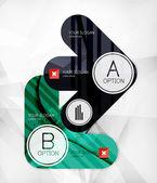 モダンなインフォ グラフィック オプションのレイアウト — ストックベクタ