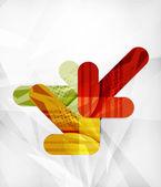 现代的 web 演示文稿设计布局 — 图库矢量图片