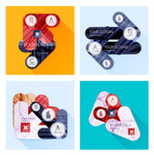 Collection of Vector Flat Infographic Layouts — Stock Vector