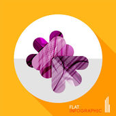 Geometric infographic in trendy flat style — Stock Vector
