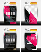 Abstract flyer - brochure templates set — Stock Vector