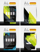Abstract flyer - brochure templates set — ストックベクタ