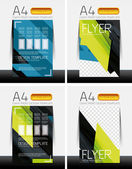 Abstract flyer - brochure templates set — Stock Vector