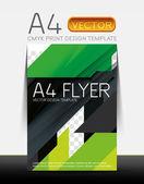 Abstract flyer brochure design template — Stock Vector