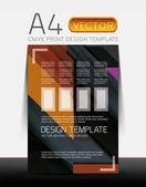 Abstract flyer brochure vector design — Vector de stock